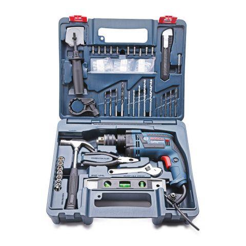 Máy khoan động lực Bosch GSB 13 RE SET 100 chi tiết 650W (Xanh)